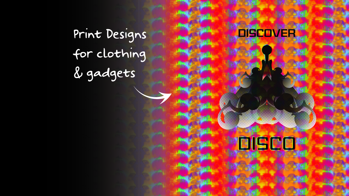 discover disco banner 2 halftone and lenticular effect