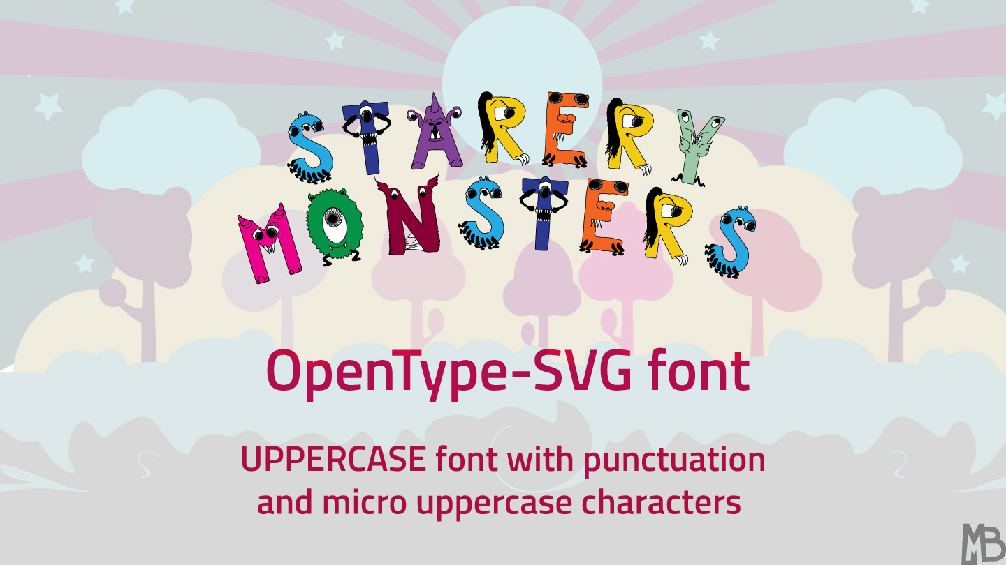 font-starery monsters