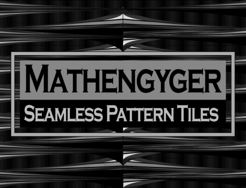Seamless Monochrome Vector Pattern – Mathengyger